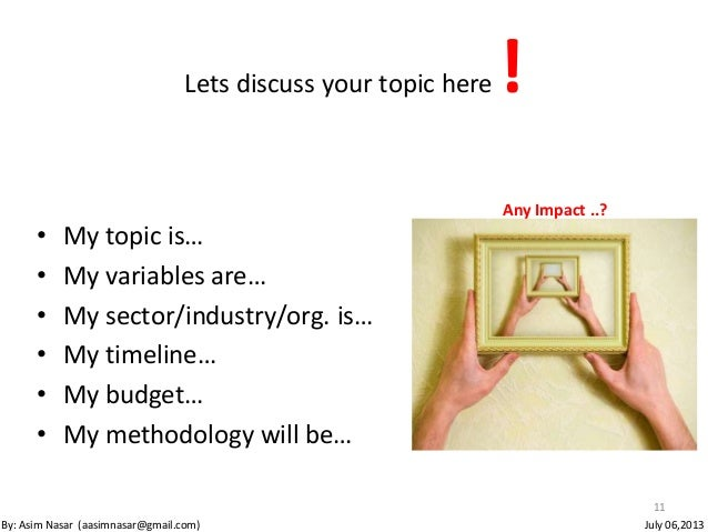 How to chose a research topic?