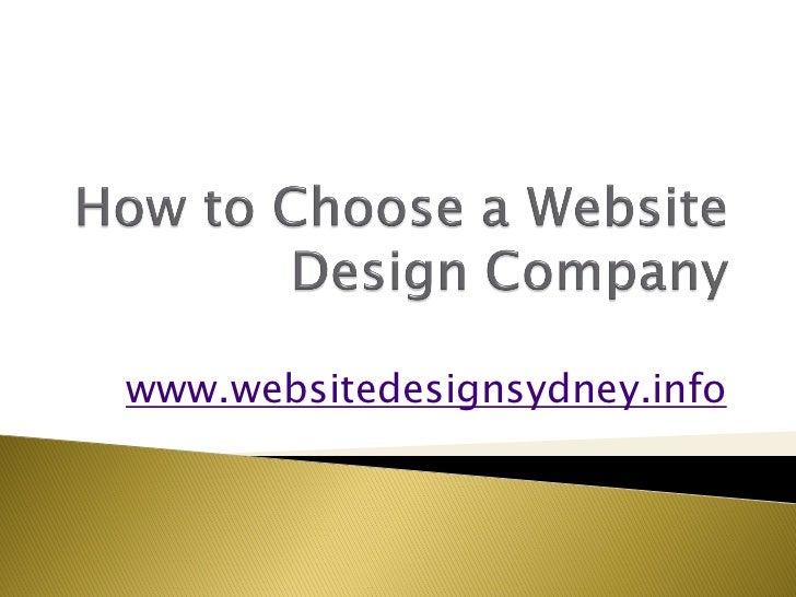 How to choose a website design company