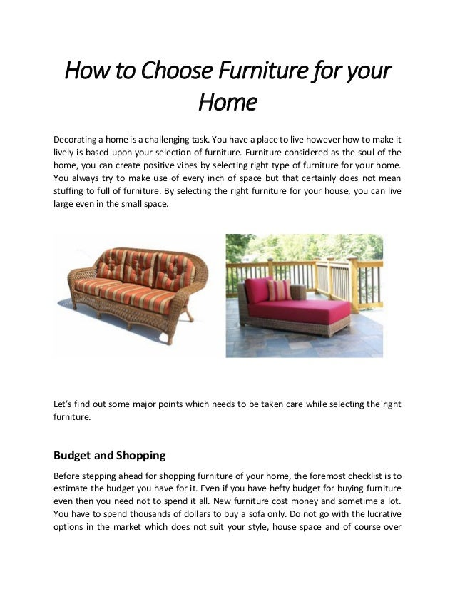 how to choose furniture for your home wicker paradise