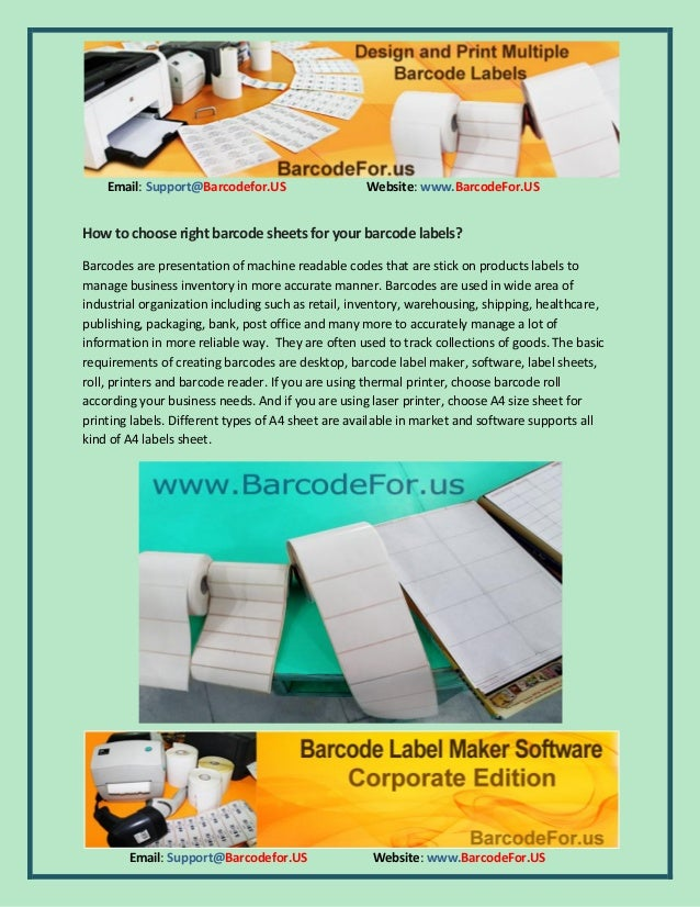 How to choose right barcode sheets for your barcode labels