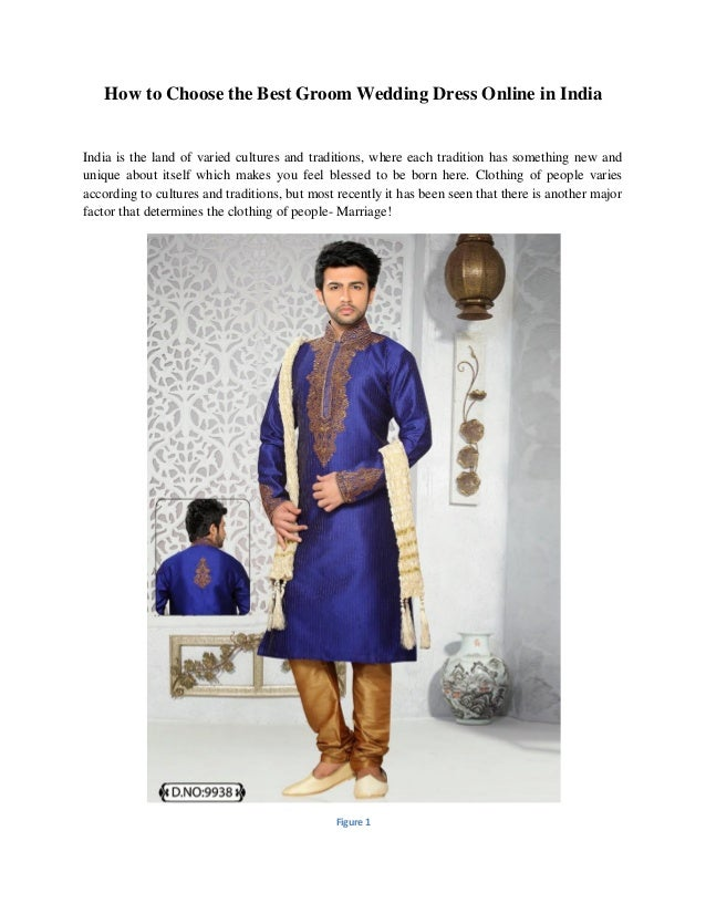 How to Choose the Best Groom Wedding Dress Online in India