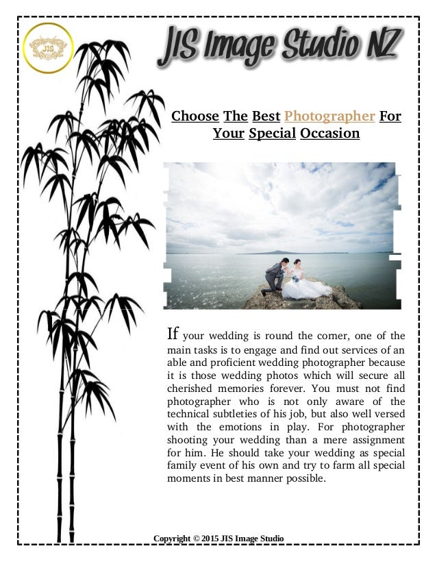 How To Choose The Best Photographer For Special Occasion