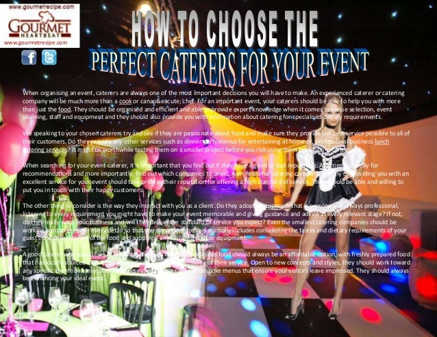 How to choose the perfect caterers for your event