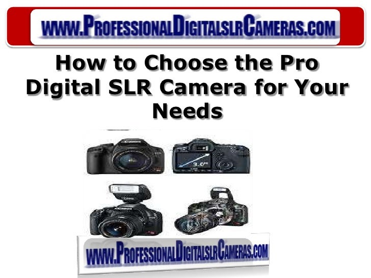 How to Choose the Pro Digital SLR Camera for Your Needs<br />