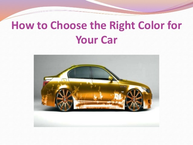 how to choose your car