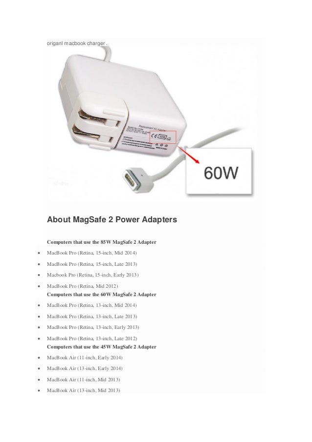 How To Choose The Right Macbook Charger