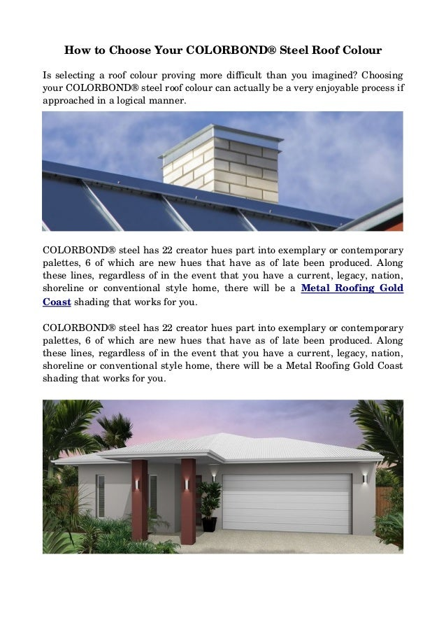 How to choose your colorbond steel roof colour for Roofing colors how to choose