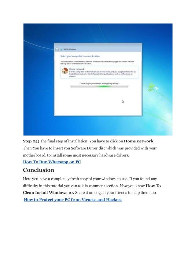 How to clean install windows 10 for How to clean windows