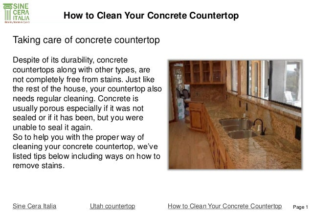 how to clean your concrete countertop. Black Bedroom Furniture Sets. Home Design Ideas