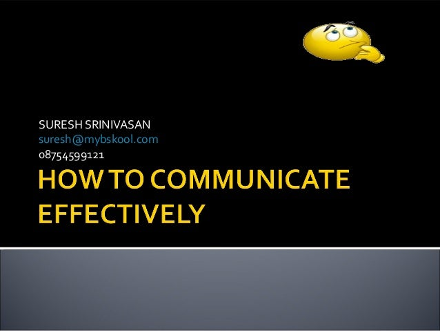 How to communicate effectively from myBskool | Online Mini MBA (Free)