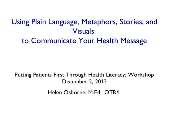 How to communicate your health message