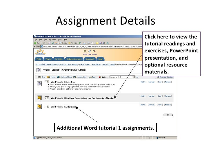 How to submit assignments on blackboard
