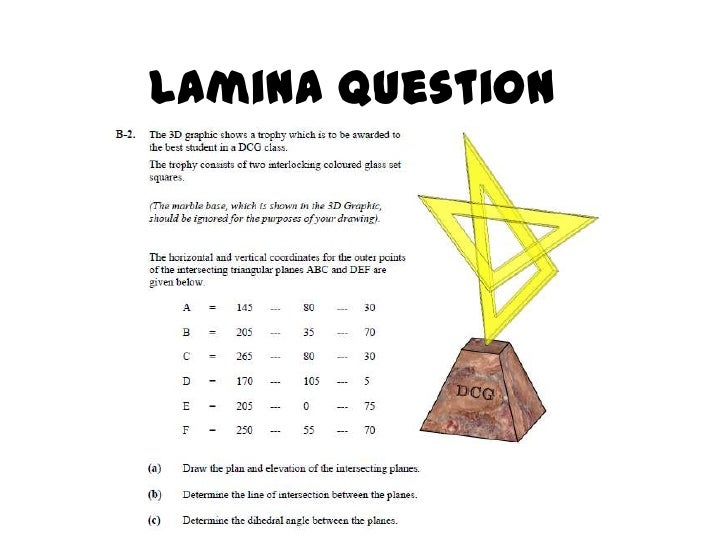 How to complete lamina question