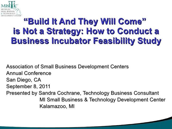How To Conduct A Business Incubator Feasibility Study