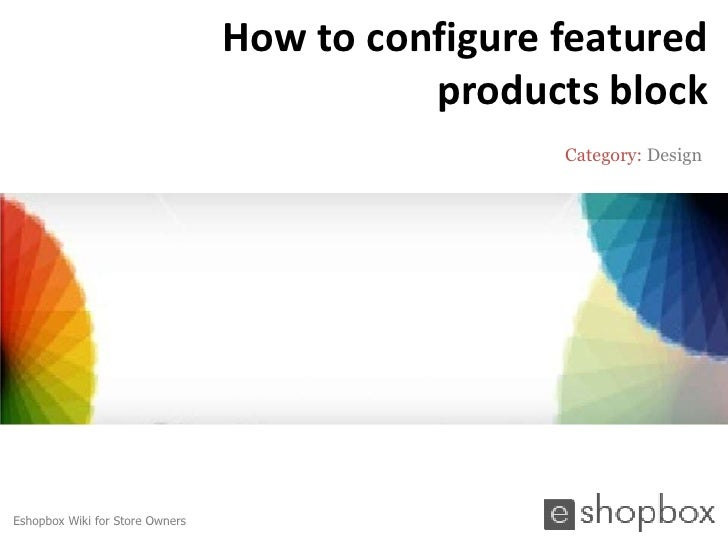How to configure featured products block