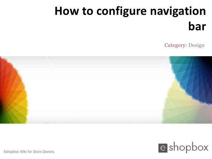 How to configure navigation                                                         bar                                   ...