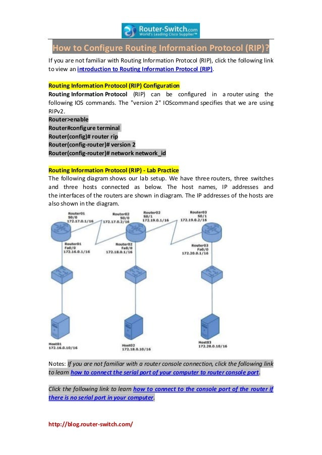 How to Configure Routing Information Protocol (RIP)?If you are not familiar with Routing Information Protocol (RIP), click...