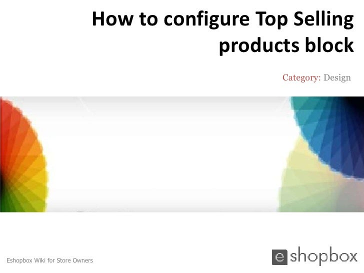 How to configure top selling products block