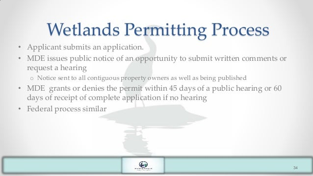 Permitting Process Wetlands Wetlands Permitting Process