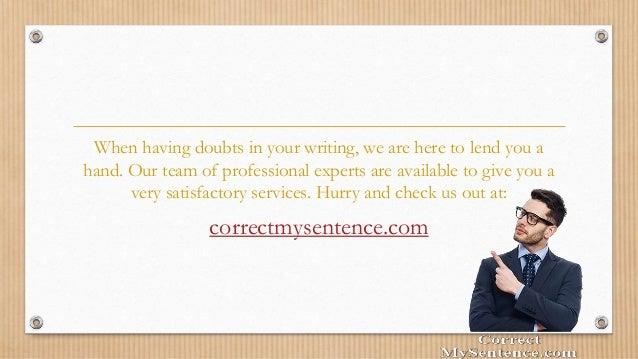 Correct my writing