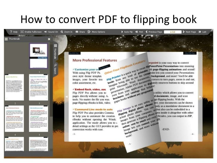 How to convert PDF to flipping book