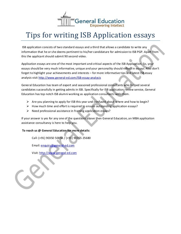 isb application essays