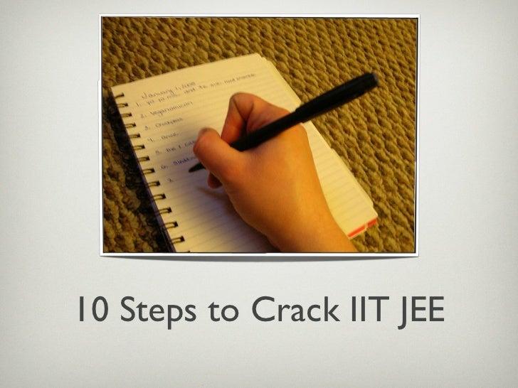 10 Steps To Crack IIT JEE