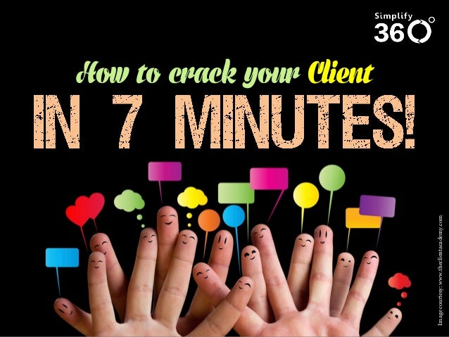 Image courtesy: www.theclientacademy.com  How to crack your Client