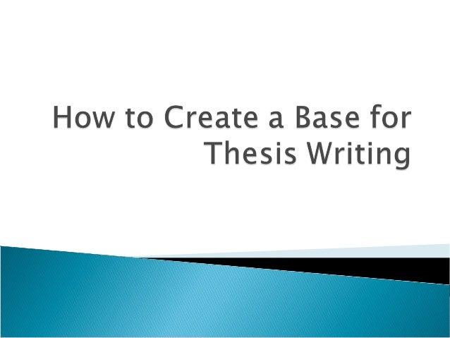 Writing thesis customatized