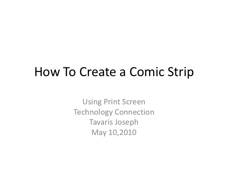 How to create a comic strip