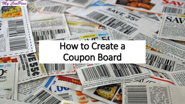 How to Create a Coupon Board