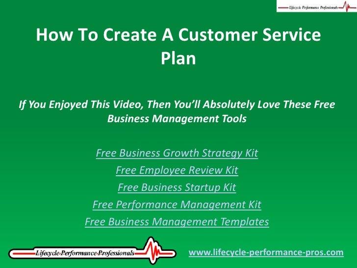 Business plan customer service