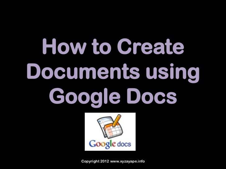 How to create a doc in google docs