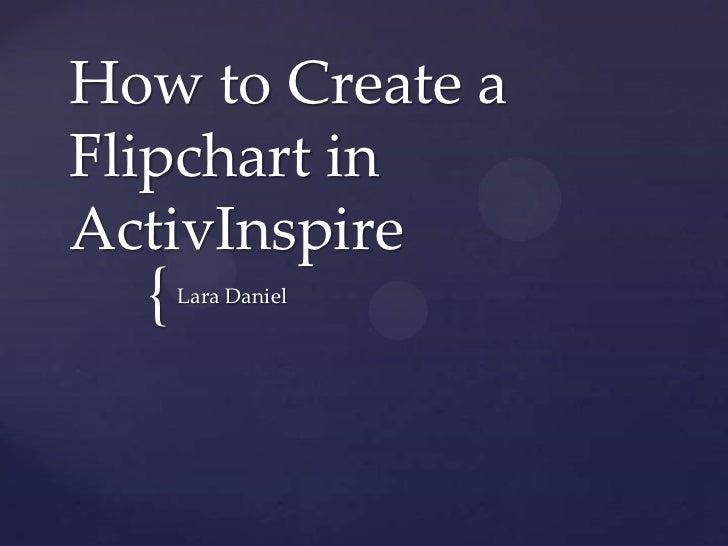 How to Create aFlipchart inActivInspire  {   Lara Daniel