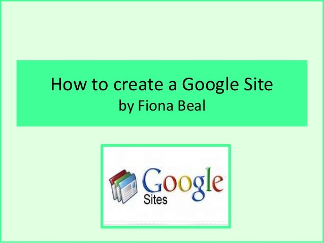 how to create a google sote