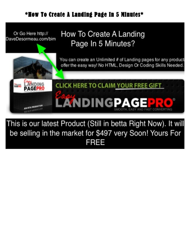 *How To Create A Landing Page In 5 Minutes*