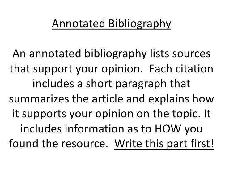 define annotated bibliography in literature Define annotate: to make or furnish (something, such as a literary work or subject) modiface manually annotated 22,000 facial images to create the experience.