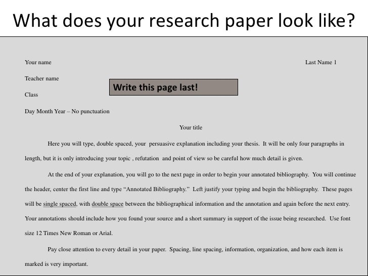 do your paper