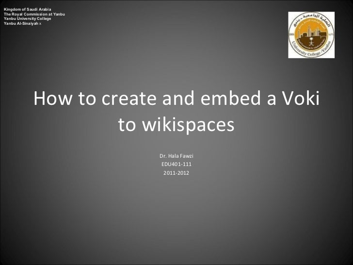 How to create and embed a voki to wikisapces
