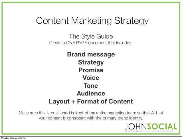 Content Marketing Strategy The