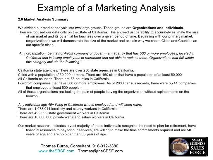market analysis example