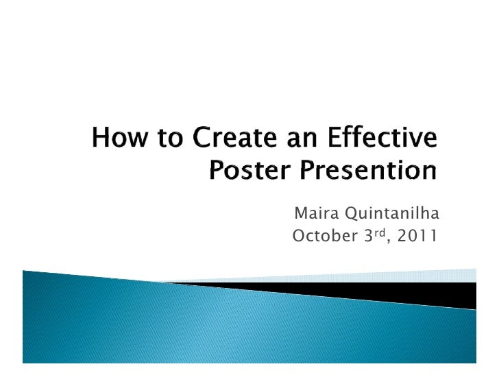How to Create an Effective Poster Presentation: Guest ...
