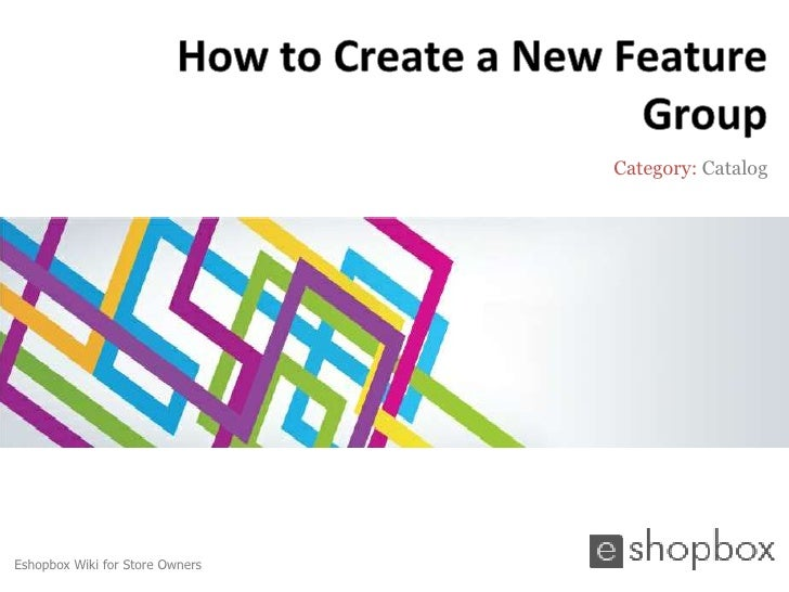 How to create a new feature group