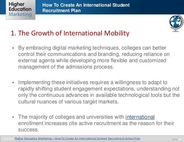 develop an international marketing plan for