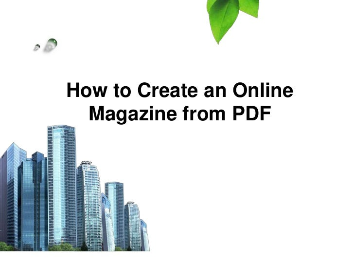 How to Create an Online  Magazine from PDF