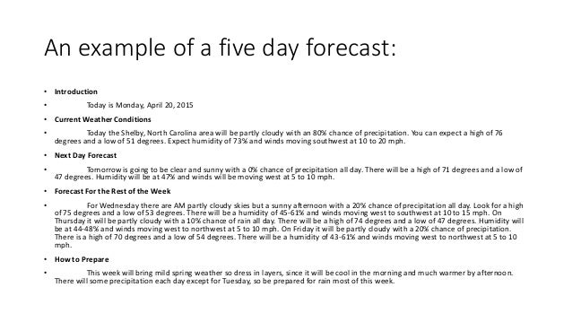 forecasting template