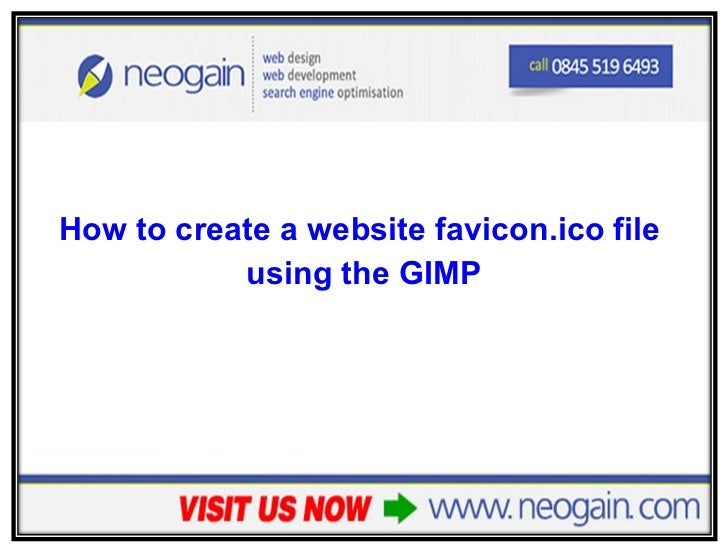 How to create a website favicon.ico file using the GIMP