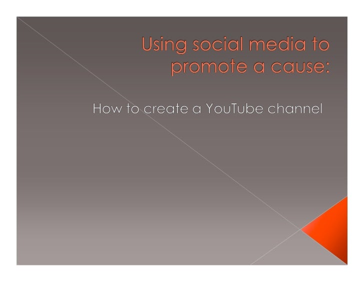 •Social media is a low-cost, often free way to promote your cause. People of all ages are signing up for social media site...