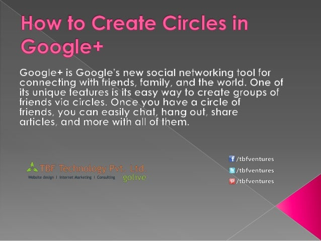 How to create circles in google+