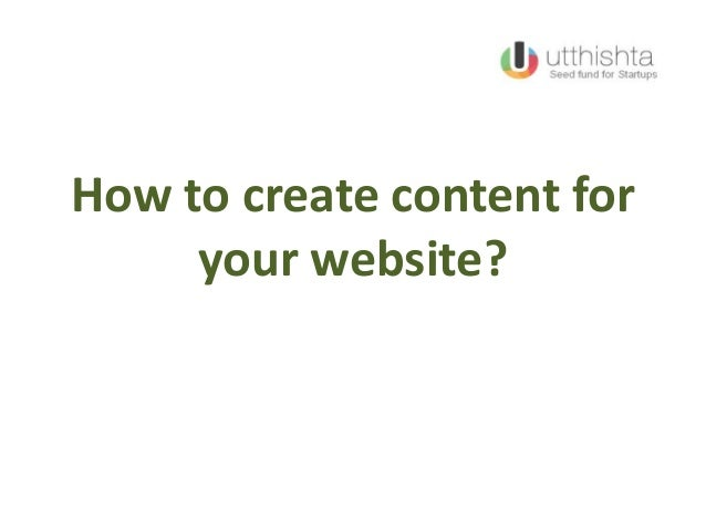 How to create content for your website